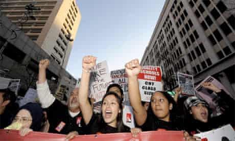 Education protests, California
