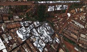 JR photo, Kibera, Kenya