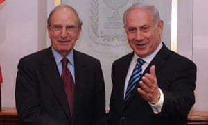 George Mitchell and Binyamin Netanyahu