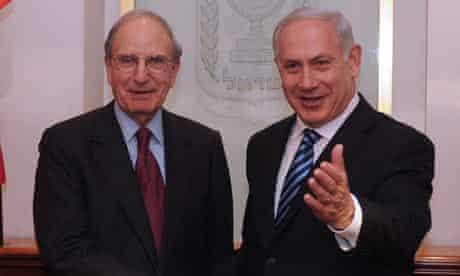 George Mitchell and Binyamin Netanyahu