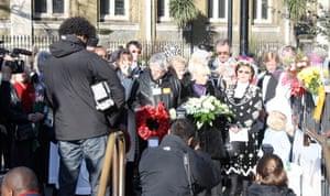 London: Barbara Windsor marks Bethnal Green Tube disaster