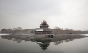 Beijing, China: Forbidden City in the snow