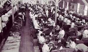 New Deal a group of women working at sewing machines