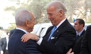 U.S. Vice President  Joe Biden meets with Israeli President Peres