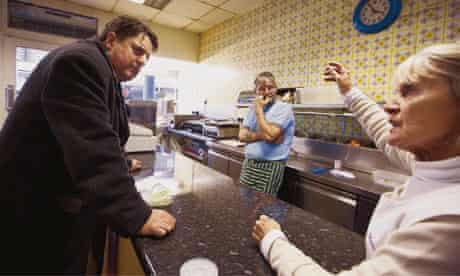 Nick Griffin in cake shop