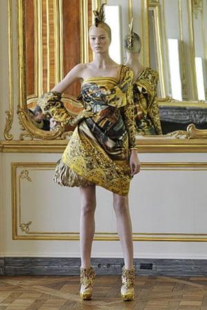 Alexander McQueen: Alexander McQueen Autumn Winter 2010 collection, at Paris Fashion Week