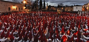 Holy week: Zamora, Spain: Penitents take part in the Procesion del Silencio