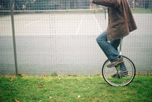 in pictures: hobbies: man on unicycle