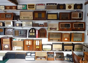 in pictures: hobbies: collection of old radios