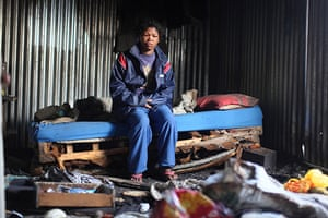Blikkiesdorp, Cape Town: Chocolate sits in her shack