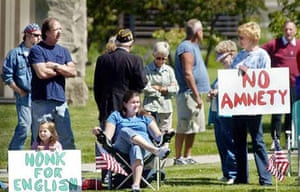 Tea party sign: 'No Amnety'
