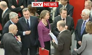 Ministers Jack Straw, Ed Balls, Yvette Cooper, Lord Mandelson and Alistair Darling