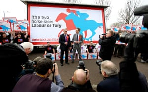 Election posters: Jim Murphy and Iain Gray unveil a Scottish Labour poster