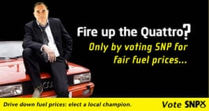 Election posters: The SNP's version of the Quattro poster