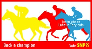 Election posters: Back a Champion poster from the SNP
