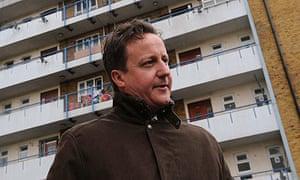 David Cameron visits east London
