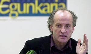 Martxelo Otamendi, editor of the closed Basque daily Egunkaria