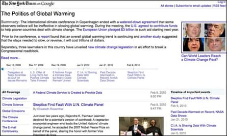 A Google 'Living Story' about climate change