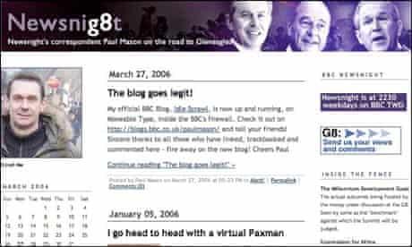 Screenshot of Paul Mason's BBC Newsnig8t blog