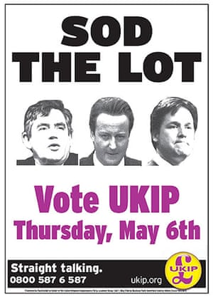 Election poster: UKIP's latest poster - Sod the Lot