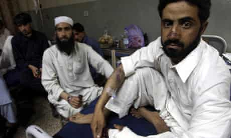 Billa Baz Khan after the air strike in Khyber, Pakistan