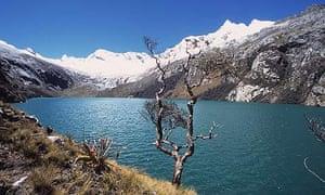 A glacier in the Peruvian Andes