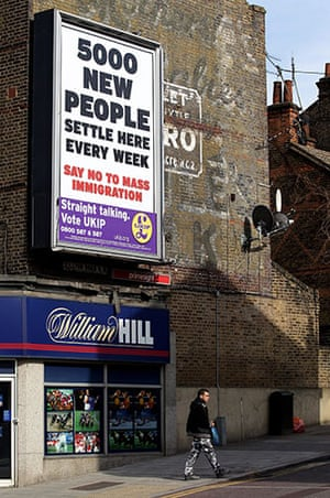 Election poster: A poster for the UK Independence Party (UKIP) in London