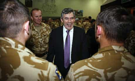 Prime Minister Gordon Brown Visits Troops In Basra