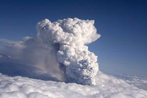 Iceland volcano eruption: Smoke billows from a volcano in Eyjafjallajokull