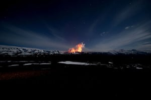 Icelandic volcano: This picture taken on March 27, 2010 sho
