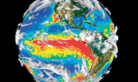 El Nino gathering over the Pacific Ocean