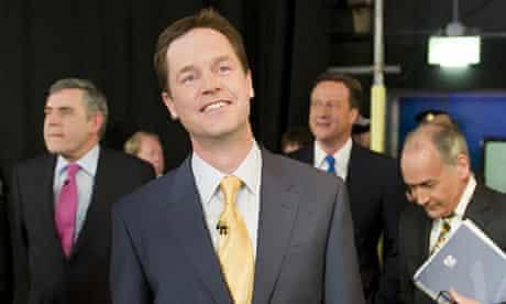 Nick Clegg, Gordon Brown, David Cameron, Alastair Stewart