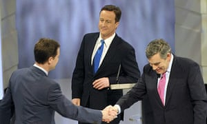 Gordon Brown, Nick Clegg, David Cameron