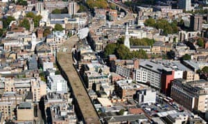 Aerial view of Shoreditch