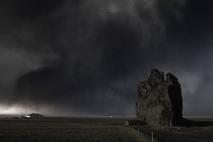 Volcano in Iceland: A huge ash cloud looms over the Icelandic south coast