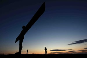 Volcanic sunsets: The Angel of the North at sunset