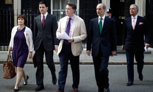 Government ministers outside Downing Street