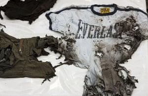 Christoph Buchel's burnt clothing exhibit