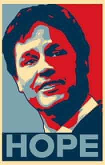 Nick Clegg Obama poster