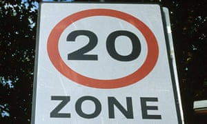 Twenty mile an hour (20mph) speed limit