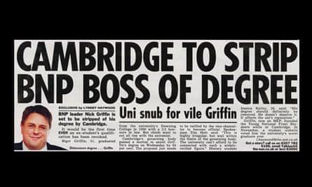 Sun newspaper headline Nick Griffin BNP April Fool