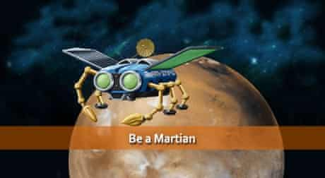 NASA graphic showing Mars for Be A Martian