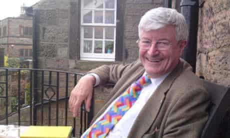 Robin Harper: Robin Harper MSP in his garden in Morningside