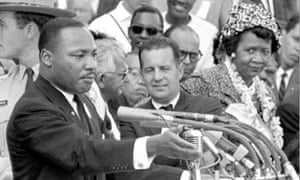 Dorothy Height, right, with Martin Luther King