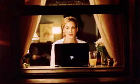 Carrie with her Mac.