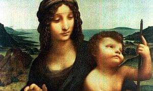Leonardo da Vinci painting, the Madonna Of The Yarnwinder