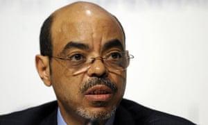 Ethiopia's Prime Minister Meles Zenawi