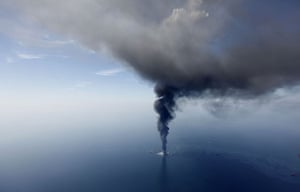 24 hours in pictures: Gulf of Mexico, USA: The Deepwater Horizon oil rig burns