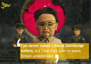 Election posters: Spoof election poster against the Liberal Democrats' defence policy