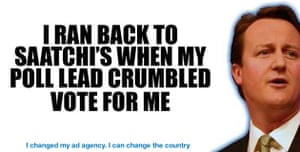 Election posters: I ran back to Saatchi's - spoof poster from mydavidcameron.com